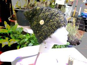 Chapeau en tricot multicolore tissu mixte