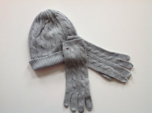 Tommy Hilfiger Knitted Gloves silver-colored cotton