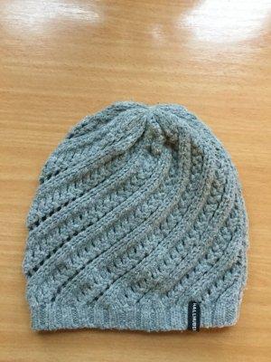 Hallhuber Bonnet gris acrylique