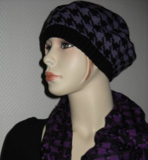 Mütze Kappe Hut Cap ONE SIZE schwarz lita h m Hahnentritt XS S M L NEU