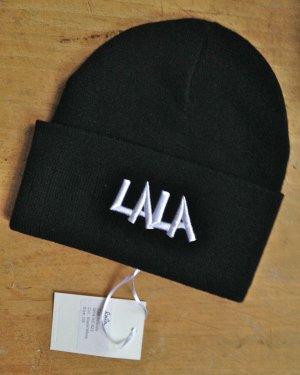 Lala Berlin Sombrero de punto negro Acrílico