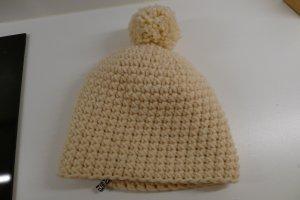 Cappello a maglia bianco-bianco sporco Lana