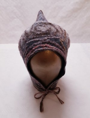 Pointed Hat multicolored merino wool