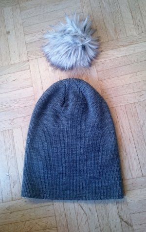 Beanie grey-light grey