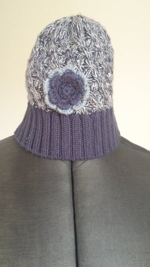 s.Oliver Knitted Hat slate-gray-dark blue wool