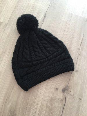 Takko Bonnet à pompon noir