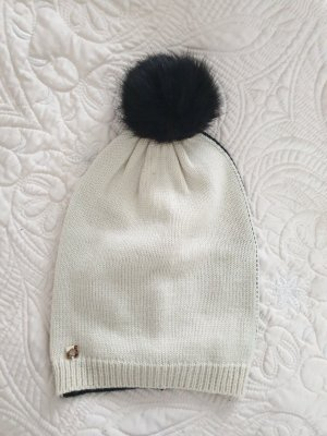 Twin set Bobble Hat black-oatmeal