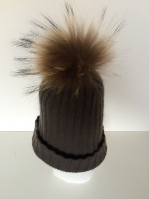 Darling Harbour Knitted Hat brown wool