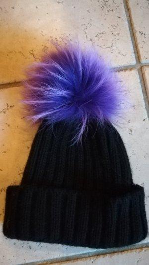 Gorra negro-violeta oscuro