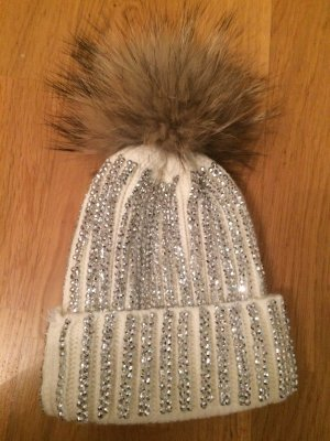 Chapeau en tricot blanc pelage