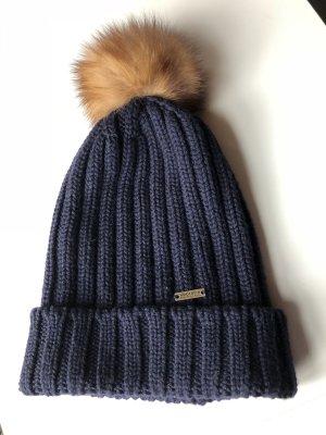 Mütze mit Fellbommel von Woolrich, Gr. M