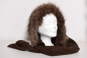 C&A Fur Hat brown polyester