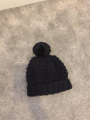 H&M Bonnet à pompon noir