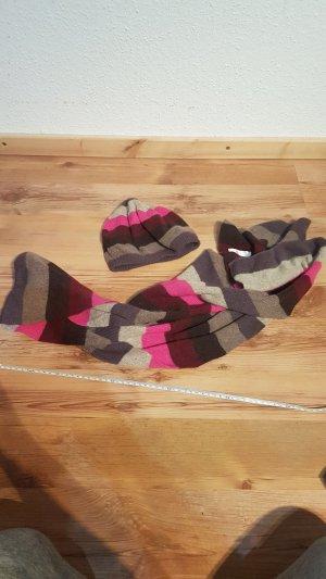 Promod Baker's Boy Cap multicolored angora wool