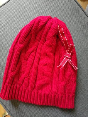 H&M Chapeau en tricot rouge