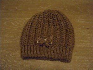 Hallhuber Knitted Hat bronze-colored polyacrylic