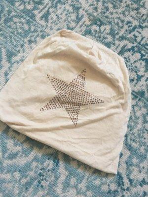 Chapeau en tissu beige-crème