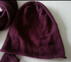 Mütze mit Woll und Angora-Anteil