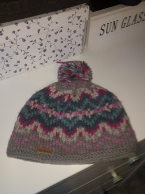 Knitted Hat multicolored wool