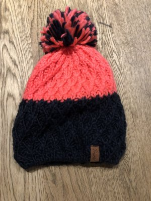 Protest Knitted Hat black-salmon