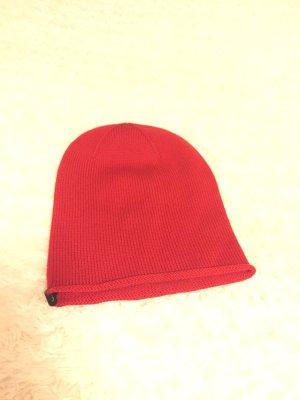 Mütze rot 100% Wolle von Lawrence Grey NEU