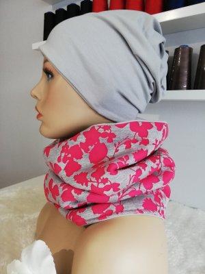 Scaldacollo grigio chiaro-rosa