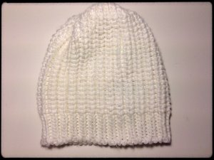 Gina Tricot Knitted Hat white polyacrylic