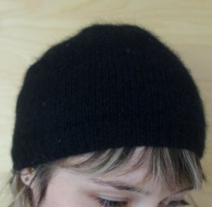 Mütze schwarz Wolle onesize