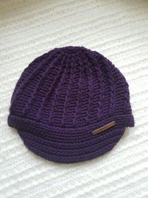 Mütze/ Strickmütze, lila, Neu