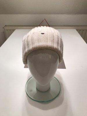 Tommy Hilfiger Sombrero de punto blanco puro