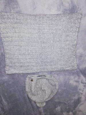 H&M Cappello a maglia argento Tessuto misto