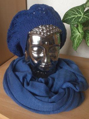 Mütze und Loopschal in blau