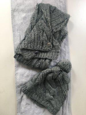 Mexx Gebreide sjaal grijs