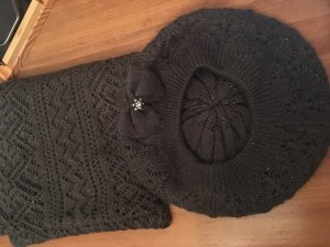 Accessorize Knitted Hat anthracite-silver-colored