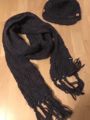 Barts Cappello a maglia blu-viola-viola scuro