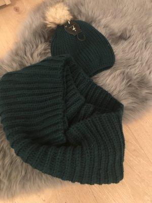 Primark Bufanda tubo verde oscuro