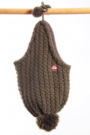 Knitted Hat bronze-colored polyester