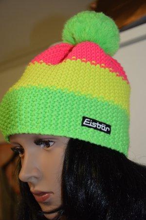 Eisbär Cappello con pon pon multicolore Lana
