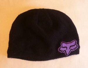 Fox Cappello in tessuto nero-viola Cotone