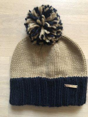 Michael Kors Chapeau en tricot chameau-bleu foncé