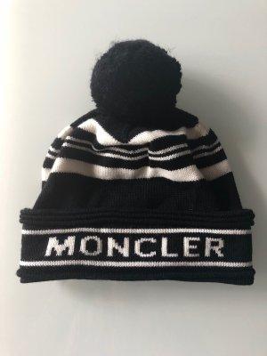Moncler Bonnet à pompon noir-blanc