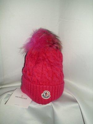 Mütze von Moncler  Modell Beretto in pink