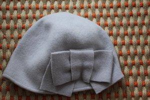Seeberger Casquette violet-bleu azur laine vierge