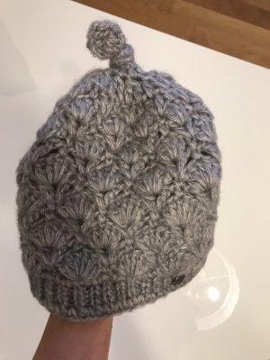 Seeberger Chapeau en tricot gris