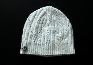 Mütze Weiß mit Stein