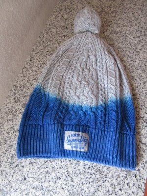 Superdry Beanie blue-light grey