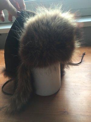 Mütze Winter aus echtem Pelz Fellmütze