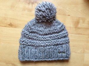 Mütze / Wolle + Fleece + Bommel / Barts
