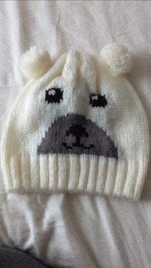 Mütze Wollmütze mit Bommel *TCM* Weiß