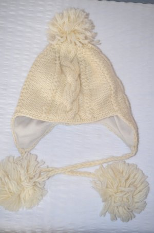 Moshiki Bobble Hat natural white wool